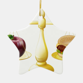 Decisión sana de las escalas de la consumición adorno de cerámica en forma de estrella