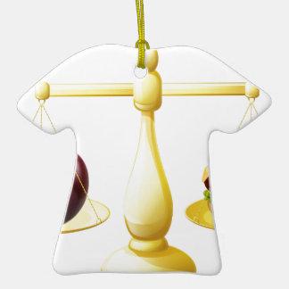 Decisión sana de las escalas de la consumición adorno de cerámica en forma de playera