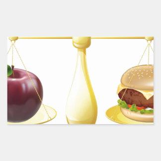 Decisión sana de las escalas de la consumición pegatina rectangular