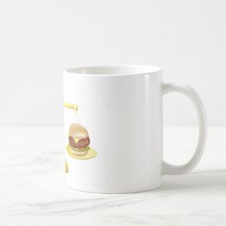 Decisión sana de las escalas de la consumición taza básica blanca