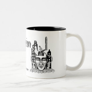 """Decision"" surreal ink pen drawing art mug"