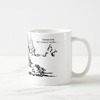 Decision time, fight, flee or - Wild animal Mug