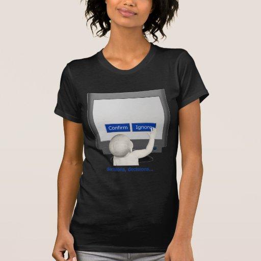 Decisiones, decisiones… camisetas