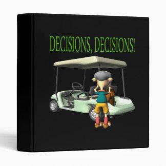 Decisions Decisions Binder