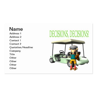 Decisions Decisions Business Card