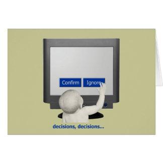 Decisions, decisions... card
