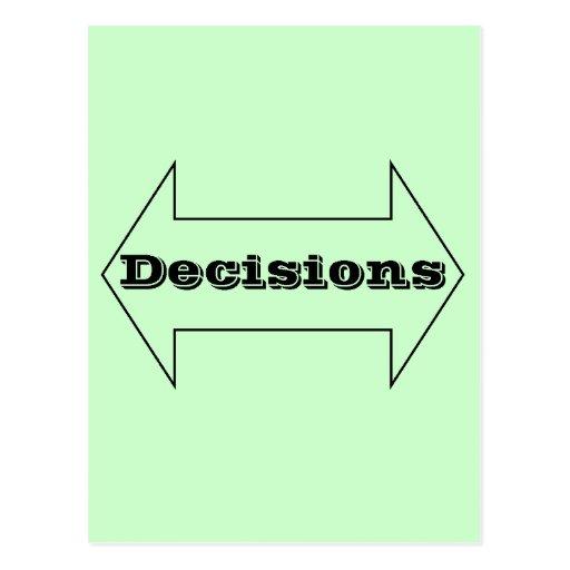 Decisions Postcards