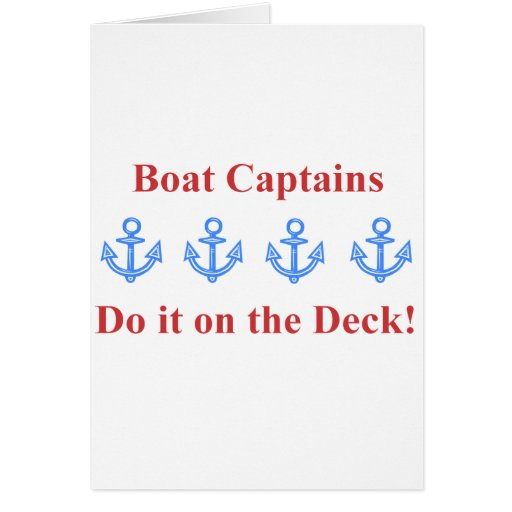 deck boat captain red card