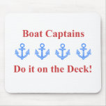 deck boat captain red mouse pads