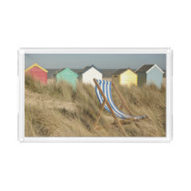 Deck Chair And Beach Huts | Southwold, Suffolk Acrylic Tray