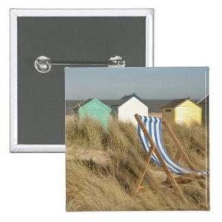 Deck Chair And Beach Huts | Southwold, Suffolk Pinback Button
