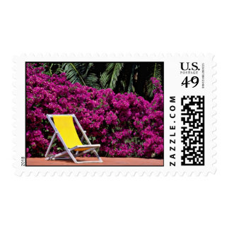 Deck chair  flowers postage