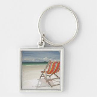 Deck Chair On The White Sand Of Samui Beach Keychain