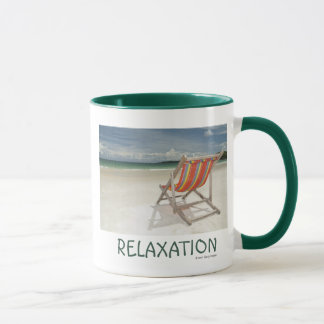 Deck Chair On The White Sand Of Samui Beach Mug