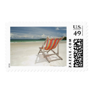 Deck Chair On The White Sand Of Samui Beach Stamps
