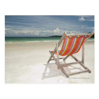 Deck Chair On The White Sand Of Samui Beach Postcards
