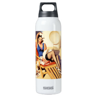 Deck Chair Sailor Pin Up Girl 16 Oz Insulated SIGG Thermos Water Bottle