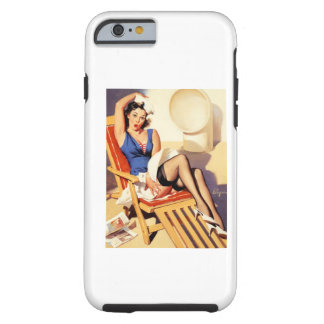 Deck Chair Sailor Pin Up Girl iPhone 6 Case
