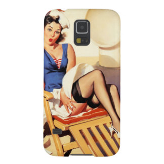 Deck Chair Sailor Pin Up Girl Galaxy S5 Case