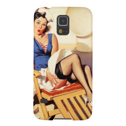 Deck Chair Sailor Pin Up Girl Galaxy S5 Covers