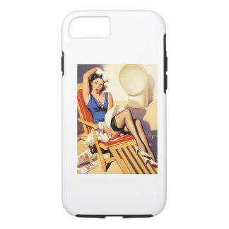 Deck Chair Sailor Pin Up Girl iPhone 8/7 Case