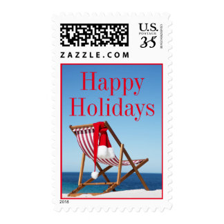 Deck Chair with Santa hat Postage