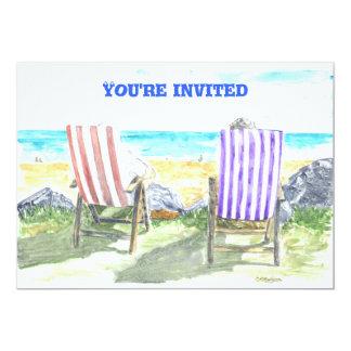 'Deck Chairs' Invitation