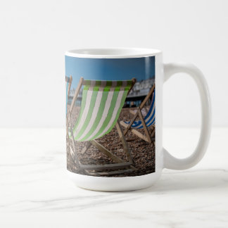 Deck Chairs Looking At The Sea Coffee Mug
