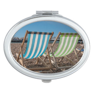 Deck Chairs Looking At The Sea Makeup Mirror