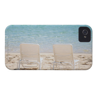 Deck chairs on sandy beach Case-Mate iPhone 4 case