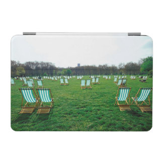 Deck Chairs Spread Out In Green Park, London iPad Mini Cover