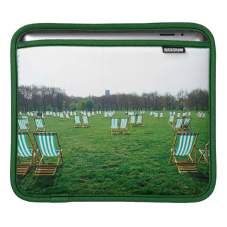 Deck Chairs Spread Out In Green Park, London iPad Sleeves