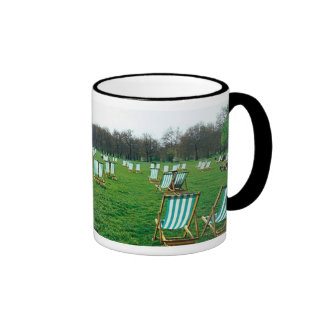 Deck Chairs Spread Out In Green Park, London Coffee Mugs