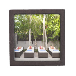 Deck Chairs Tropical House Jewelry Box