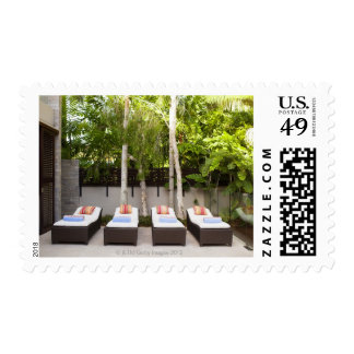 Deck Chairs Tropical House Stamps