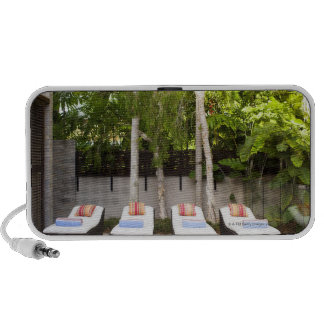 Deck Chairs Tropical House Portable Speaker