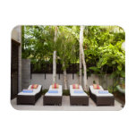 Deck Chairs Tropical House Vinyl Magnets