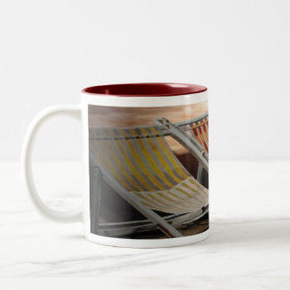 Deck Chairs Two-Tone Coffee Mug