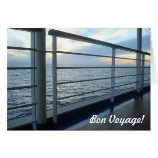 Deck Level View Bon Voyage Card Note Card