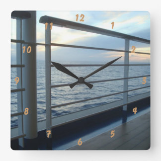 Deck Level View Square Wall Clock