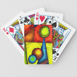 Deck of Cards, Balance, Acrylic Abstract Bicycle Playing Cards