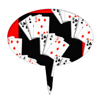 DECK OF CARDS CAKE TOPPER