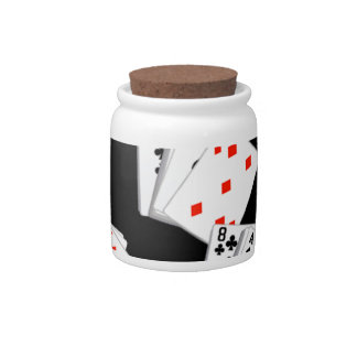DECK OF CARDS CANDY JAR