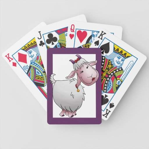 Deck of Cards, Cute Female Goat Cartoon