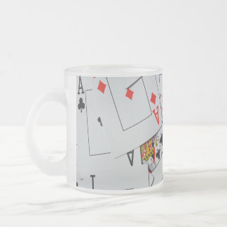 Deck_Of_Cards,_Frosted_Glass_Beer_Mug. Frosted Glass Coffee Mug
