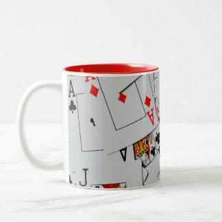 Deck_Of_Cards, _Two_Toned_Coffee_Mug. Taza De Dos Tonos