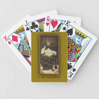 Deck of Cards w Visconti-Sforza Tarot Hierophant