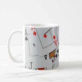 Deck_Of_Cards, _White_Coffee_Mug. Taza Clásica