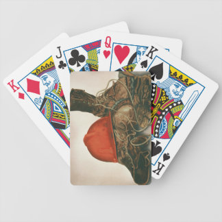 deck of cards with airbrushed lineman image