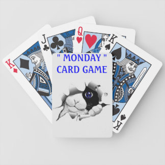 DECK OF PLAYING CARD - MONDAYS BICYCLE PLAYING CARDS